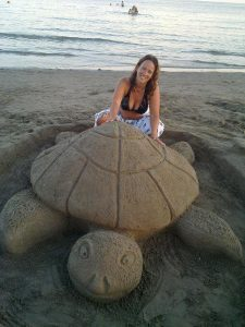 ArtByHeart and a sand turtle