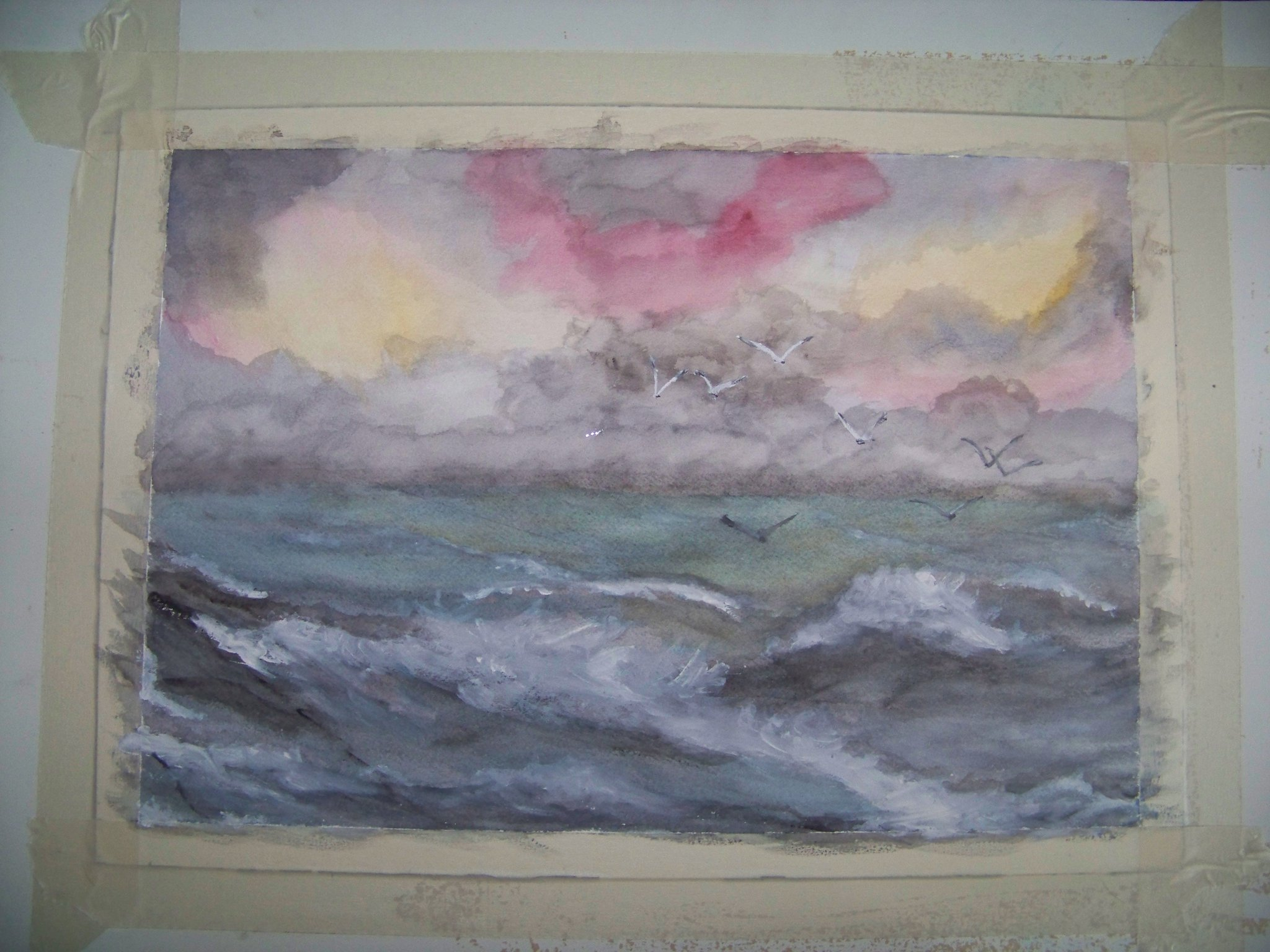 Stormy Sea Watercolour ArtByHeart