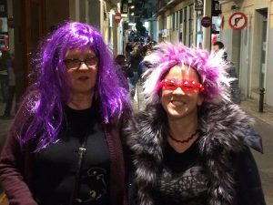 Me and my mum at carneval in Sitges
