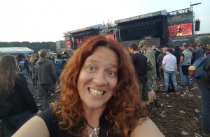 Me enjoying a Metal concert.